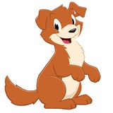 Cartoon Puppy Dog. Cartoon dog. Isolated objects for design element Royalty Free Stock Images