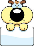 Cartoon Puppy Dog Sign Stock Images