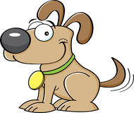 Cartoon puppy. Cartoon illustration of a puppy wagging his tail royalty free illustration