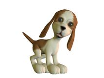 Cartoon puppy looking angry Stock Photo