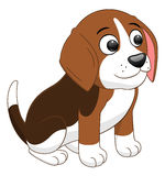 Cartoon puppy sitting Royalty Free Stock Photography