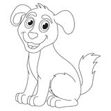 Cartoon puppy, vector illustration of cute dog Stock Photos