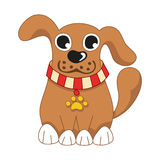 Cartoon puppy, vector illustration of cute dog Royalty Free Stock Photos
