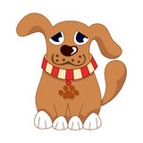 Cartoon puppy, vector illustration of cute dog Royalty Free Stock Photo