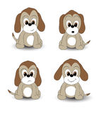 Cartoon pups Stock Images