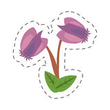 Cartoon purple flower image icon Stock Photo