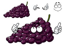 Cartoon purple grape fruit character Royalty Free Stock Photography