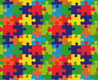 Cartoon puzzle. Color puzzles vector background and texture Stock Photography
