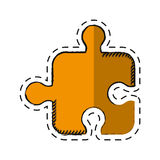 Cartoon puzzle strategy creativity abstract Royalty Free Stock Image