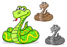 Cartoon python snake Stock Image