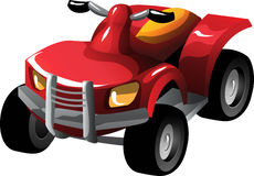 Cartoon quad bike Stock Image