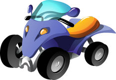 Cartoon quad bike Royalty Free Stock Image