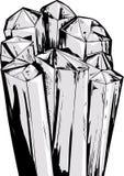 Cartoon Quartz Crystals Stock Image