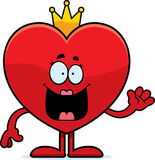 Cartoon Queen of Hearts Waving Stock Image