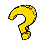 cartoon question mark Royalty Free Stock Photography