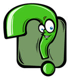 Cartoon question mark Royalty Free Stock Image
