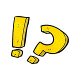 Cartoon question marks Royalty Free Stock Photography