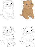Cartoon quokka. Coloring book and dot to dot game for kids Stock Image