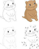 Cartoon quokka. Dot to dot game for kids Royalty Free Stock Images
