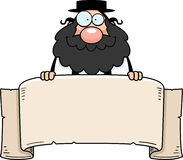 Cartoon Rabbi Banner Royalty Free Stock Images