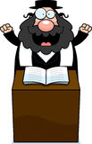 Cartoon Rabbi Sermon Royalty Free Stock Photos