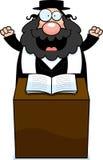 Cartoon Rabbi Sermon Royalty Free Stock Photos