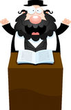 Cartoon Rabbi Sermon Royalty Free Stock Images