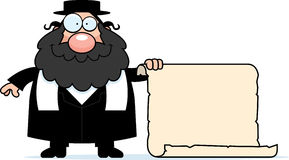 Cartoon Rabbi Sign Stock Photos