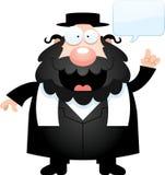 Cartoon Rabbi Talking Royalty Free Stock Image