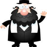 Cartoon Rabbi Waving Stock Photo