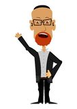 Cartoon Rabbi on a white background Royalty Free Stock Photos
