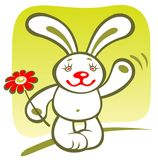 Cartoon rabbit Royalty Free Stock Image