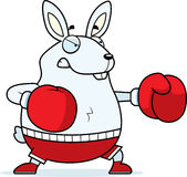 Cartoon Rabbit Boxing. A cartoon illustration of a rabbit punching with boxing gloves Stock Photography