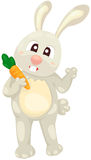 Cartoon rabbit with carrot Royalty Free Stock Images