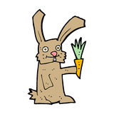 cartoon rabbit with carrot Stock Images