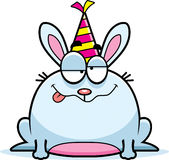 Cartoon Rabbit Drunk Party Stock Images