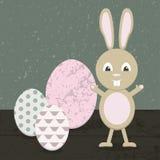 Cartoon rabbit in Easter. Vector stock illustration