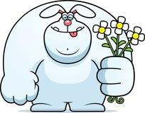 Cartoon Rabbit Flowers Stock Photos