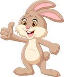 Cartoon rabbit giving thumbs up Stock Image