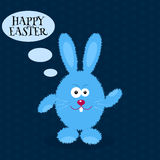 Cartoon rabbit. Greeting card with Easter rabbit. Easter Bunny. Vector illustration Stock Images