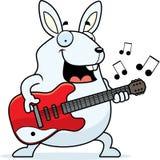 Cartoon Rabbit Guitar Stock Photography