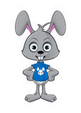 Cartoon Rabbit - Hands On Hips Royalty Free Stock Image