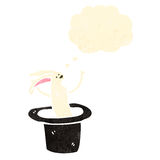 Cartoon rabbit in hat Royalty Free Stock Images