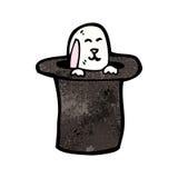 Cartoon rabbit in hat Stock Image
