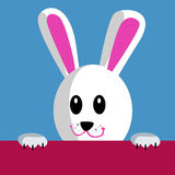 Cartoon rabbit holding banner Royalty Free Stock Photography