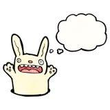 Cartoon rabbit in hole Royalty Free Stock Photo