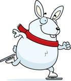 Cartoon Rabbit Ice Skating Stock Image
