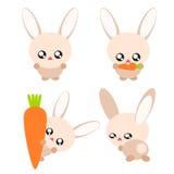 Cartoon rabbit illustration Stock Photo