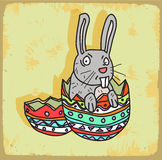 Cartoon rabbit illustration , vector icon Royalty Free Stock Image