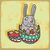 Cartoon rabbit illustration , vector icon Royalty Free Stock Image